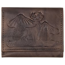 Bass Pro Shops Montana Leather Buck Trifold Wallet