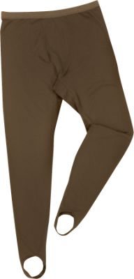 Drake Waterfowl Systems LST Fleece Base Layer Pant with Stirrups for Men – Brown – M