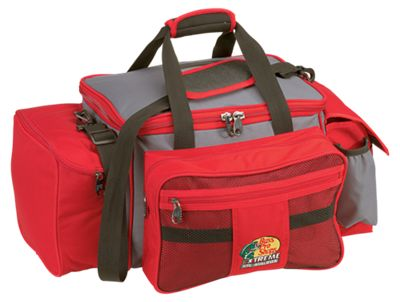 Bass Pro Shops Extreme Qualifier 370 Tackle Bag – Red/Gray (Bag Only)