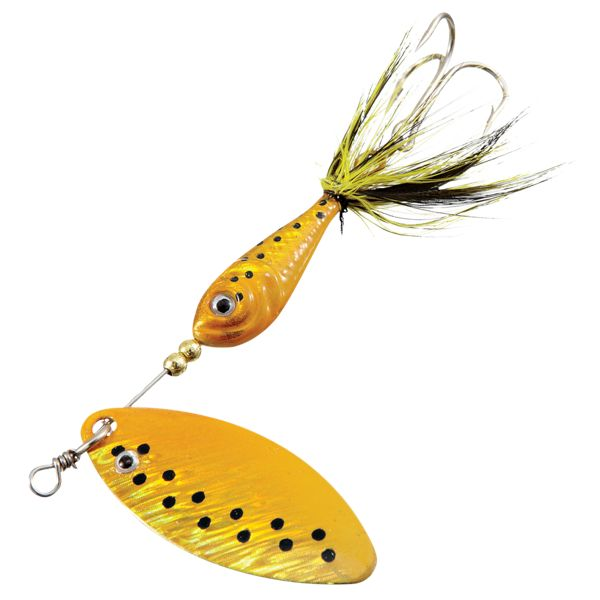 Bass Pro Shops XPS Lazer Eye Micro Spin - 1/16 oz. - Yellow Coach Dog