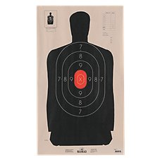 RedHead Official NRA Silhouette Targets with Red Center