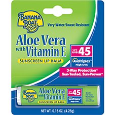 Banana Boat Aloe Vera with Vitamin E Sunscreen Lip Balm