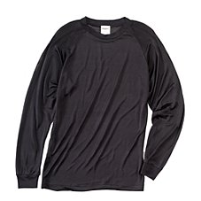 Terramar Travel Essentials Filament Silk Long-Sleeve Crew Shirt for Men
