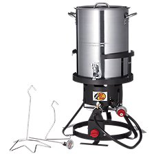 Bass Pro Shops Stainless Steel Turkey Fryer with Spigot Image