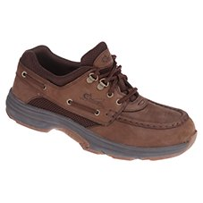 World Wide Sportsman Blue Water Boat Shoes for Men - Dark Brown Image