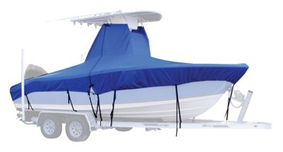 Taylor Made T-Top Boat Covers without Bow Rail - Pacific Blue - 17'5-18'4 x 102