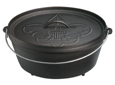 Boy Scouts of America Engraved Cast Iron Cookware by Lodge Logic - 6-Quart Camp Dutch Oven