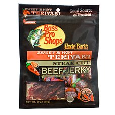 Bass Pro Shops Uncle Buck's Steak Cut Beef Jerky - Sweet & Hot Teriyaki
