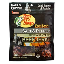 Bass Pro Shops Uncle Buck's Steak Cut Beef Jerky - Salt & Pepper