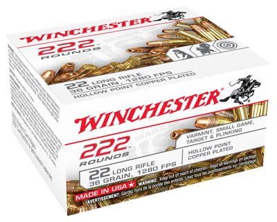 Winchester Bulk Pack Rimfire Ammo – .22 Long Rifle – Plated Hollow Point – 36 Grain – 333 Rounds