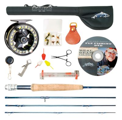 """Wright & McGill Plunge Fly Fishing Rod and Reel Outfit with Accessories - 8'6"