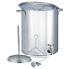 Bass Pro Shops Stainless Steel Stock Pot with Spigot - 30-Quart