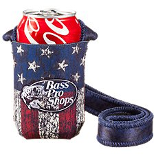 Bass Pro Shops Hands Free Neck Coolie - Flag