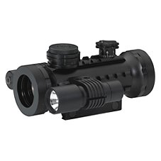 BSA Stealth Illuminated Red Dot Sight with Laser and Light