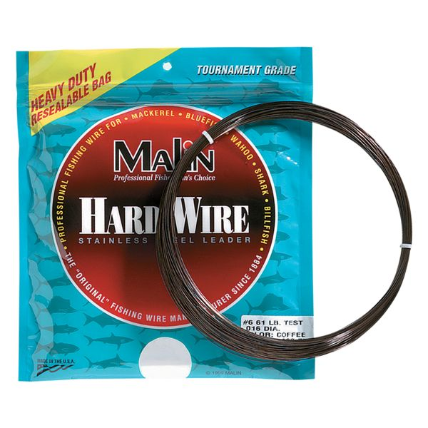 Malin Stainless Steel Leader Wire - 42 Feet - 93 lb. Test - #8