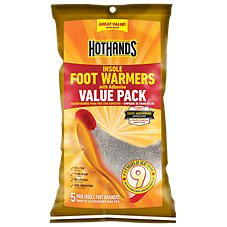 HeatMax Toasti Toes Insole Foot Warmers - Five Pair Value Pack