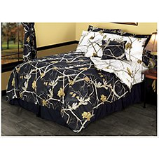 Bass Pro Shops Realtree APC Reversible Black and Snow Bedding Collection