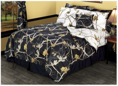 Bass Pro Shops Realtree APC Reversible Black and Snow Bedding ...