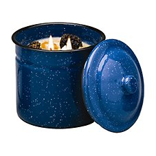 Swan Creek Candle Company Gourmet Enamelware Canister Candles Vanilla Pound Cake