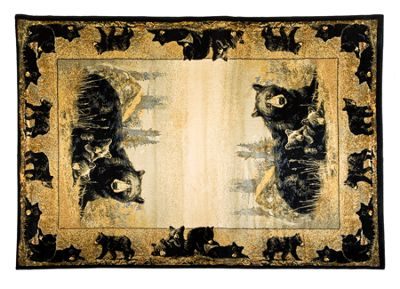 Lodge Themed Area Rugs Time To Play 110 X 3