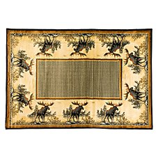 Lodge-Themed Area Rugs - Northwoods Moose