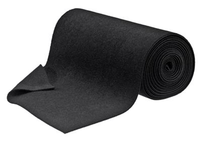 Image of Bass Pro Shops Black 18'' x 18' Roll Carpet