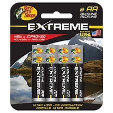 Bass Pro Shops Extreme AA Alkaline Battery 8 Pack