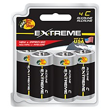 Bass Pro Shops Extreme C Alkaline Battery - 4-Pack