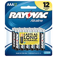 Rayovac AAA Alkaline Battery 12 Pack