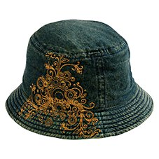 b07c02aa77943 Bass Pro Shops Denim Scroll Bucket Hat for Ladies