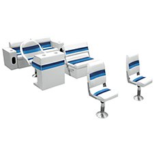 Wise Plastic Frame Deluxe Pontoon Furniture - Complete Boat Group B - Front Boat Group B - Rear Group B - or Rear/Side Group B