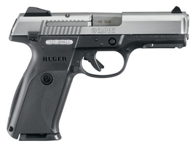 Ruger Sr40 Semi-Auto Pistol With Stainless Steel Slide .40 Smith & Wesson by USA Ruger Pistols