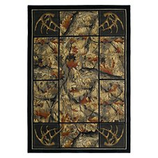 Lodge-Themed Area Rugs - Antlers Camo