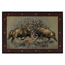 Lodge-Themed Area Rugs - Fight for Dominance