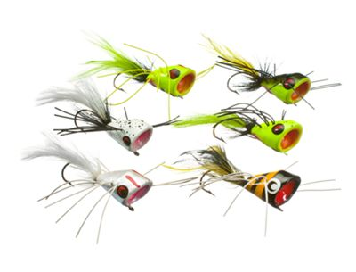 Bett's Bass Bug Popper Kit 6 Piece 1/0