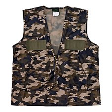 QuietWear Camo Hunting Vest with Game Bag