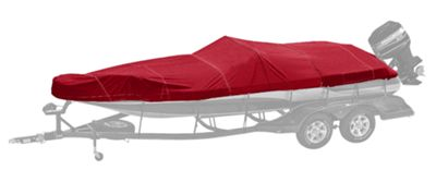 Bass Pro Shops Exact Fit Boat Cover by Westland for V17 Models with Port Trolling Motor - Burgundy