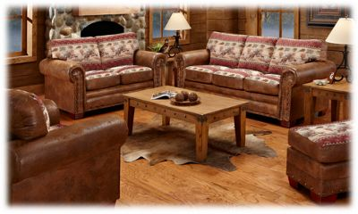 The Lodge Collection 4 Piece Living Room Furniture Set