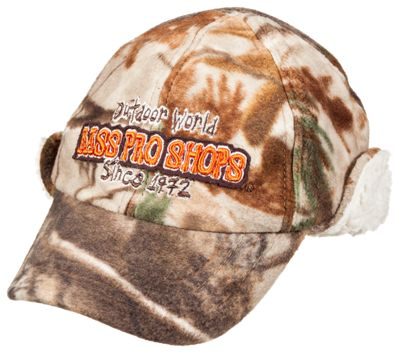 Bass Pro Shops 6-Panel Cap with Earflaps for Youth - Realtree AP thumbnail