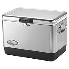 Coleman 54-Quart Stainless Steel Belted Cooler