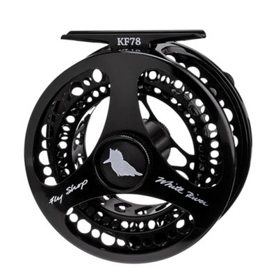 White River Fly Shop Kingfisher Fly Reel – 3/4 Line Wt – Black