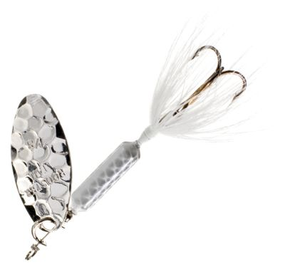 Worden's Original Rooster Tail 1/4 oz. Lure – Hammered Silver White