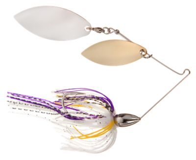 War Eagle Double Willow Spinnerbaits – 3/8 oz. – Nickel Frame – Sexxy Purple Shad
