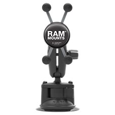 RAM Mounts Composite Twist Lock Suction Cup Mount with Universal X-Grip Cell Phone Holder