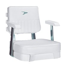 Wise Offshore Boat Seat/Pedestal Combinations - Deluxe Ladder Back Helm Chair
