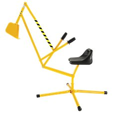 Reeves International Big Dig Working Crane Ride-On Toy for Kids Image