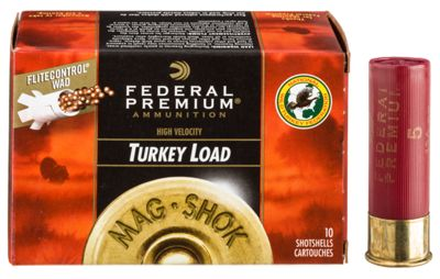 Federal Premium Mag-Shok High Velocity Turkey Load Shotshells with FLITECONTROL by