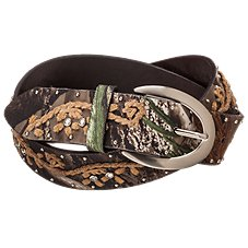 Natural Reflections Studded Camo Belt for Ladies