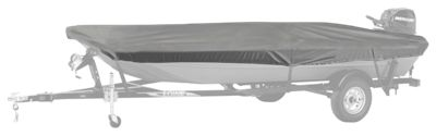 Bass Pro Shops Select Fit Hurricane Boat Cover by Westland for Aluminum Jon Boats with Outboard - Grey - 78''