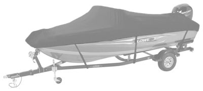 Bass Pro Shops Select Fit Hurricane Boat Cover by Westland for V-Hull Models with Trolling Motor - Gray - 19'6''-20'5''